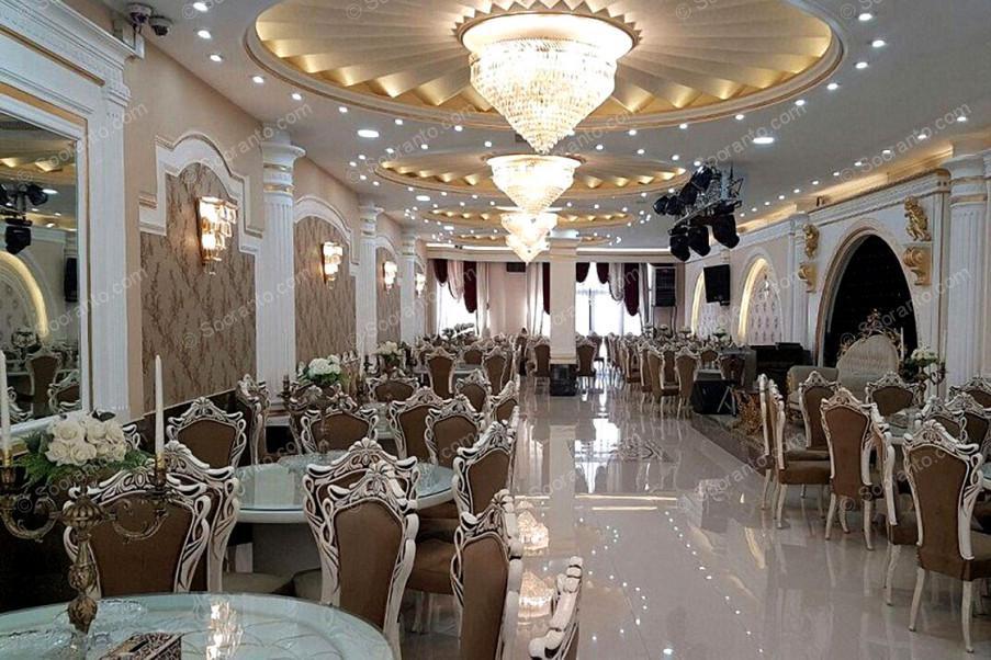 عکس سالن تالار پذیرایی ارغوان طلایی 3668